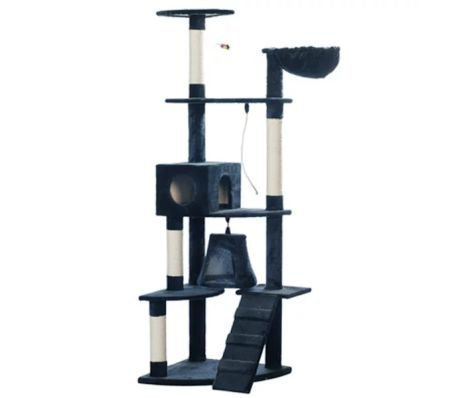 "Cat Tree 75"" Dark Blue Plush[1/2]"