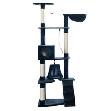 "Cat Tree 75"" Dark Blue Plush[2/2]"
