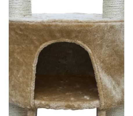 "Cat Tree Deluxe 90"" - 102"" Beige Plush[4/6]"