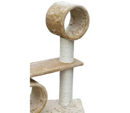 "Cat Tree Deluxe 90"" - 102"" Beige Plush[6/6]"