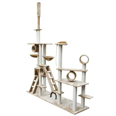 "Cat Tree Deluxe 90"" - 102"" Beige Plush[2/6]"