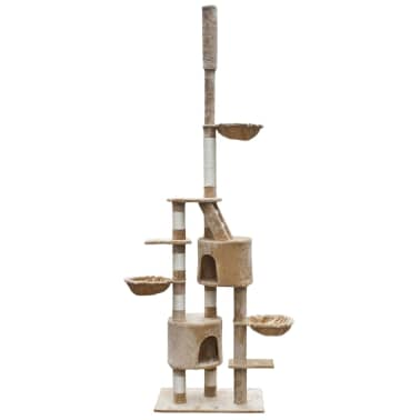 "Cat Tree Cuddles XL 90"" - 102"" Beige Plush[1/5]"