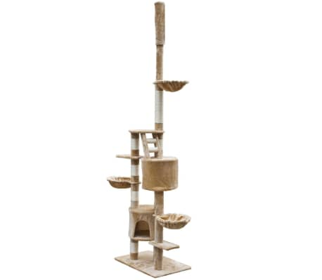 "Cat Tree Cuddles XL 90"" - 102"" Beige Plush[2/5]"
