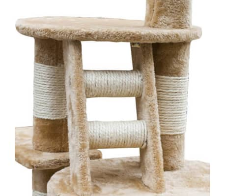 "Cat Tree Cuddles XL 90"" - 102"" Beige Plush[3/5]"