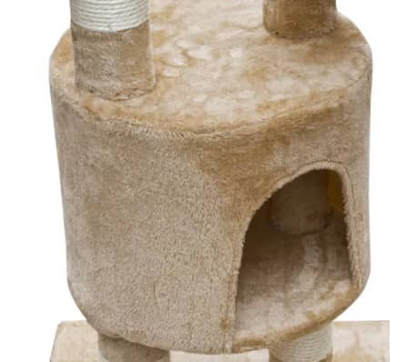 "Cat Tree Cuddles XL 90"" - 102"" Beige Plush[4/5]"