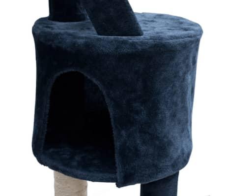 "Cat Tree Cuddles XL 90"" - 102"" Dark Blue Plush[3/5]"