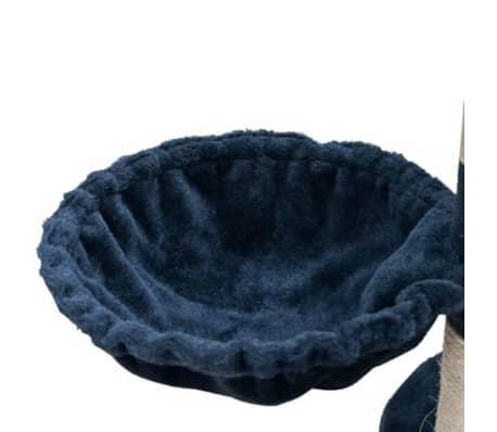 "Cat Tree Cuddles XL 90"" - 102"" Dark Blue Plush[5/5]"