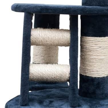 "Cat Tree Cuddles XL 90"" - 102"" Dark Blue Plush[4/5]"