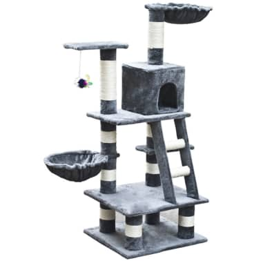 "Cat Tree 48"" Gray Plush[1/5]"