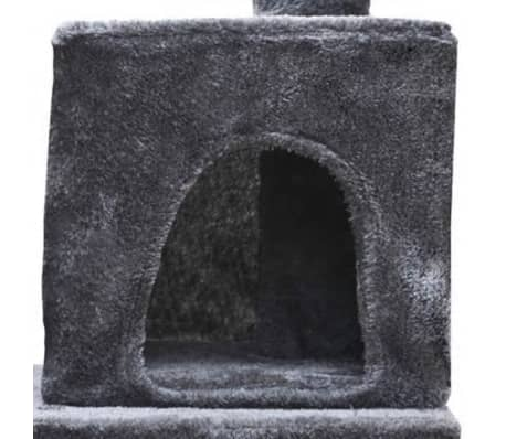 "Cat Tree 48"" Gray Plush[3/5]"