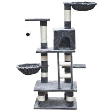 "Cat Tree 48"" Gray Plush[2/5]"