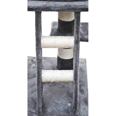 "Cat Tree 48"" Gray Plush[4/5]"