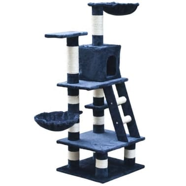 "Cat Tree 48"" Dark Blue Plush[1/5]"