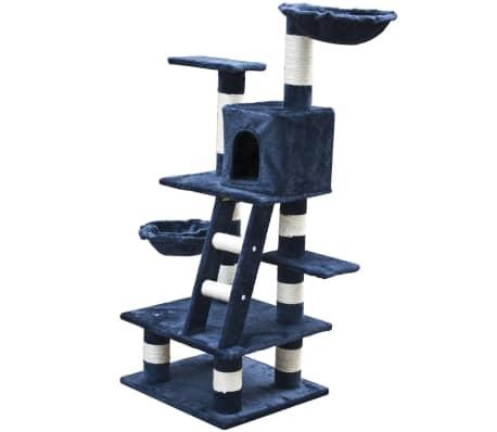 "Cat Tree 48"" Dark Blue Plush[2/5]"