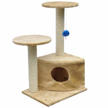 "Cat Tree 28"" Beige Plush[1/3]"