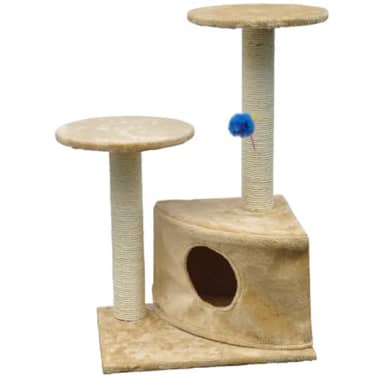 "Cat Tree 28"" Beige Plush[2/3]"