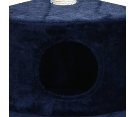 "Cat Tree 28"" Dark Blue Plush[3/3]"
