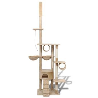 """Cat Tree Scratching Post 87"""" - 94"""" 1 Condo Beige[2/5]"""