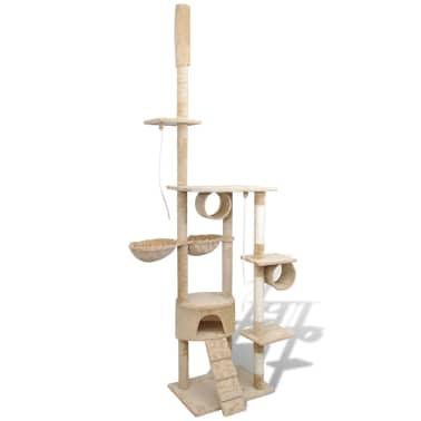 """Cat Tree Scratching Post 87"""" - 94"""" 1 Condo Beige[3/5]"""