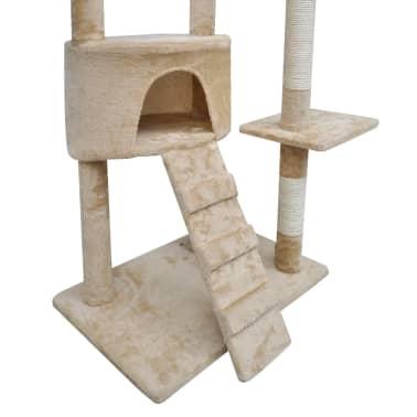 """Cat Tree Scratching Post 87"""" - 94"""" 1 Condo Beige[5/5]"""