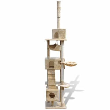 "Cat Tree Scratching Post 87"" - 94"" 3 Condos Beige[2/5]"