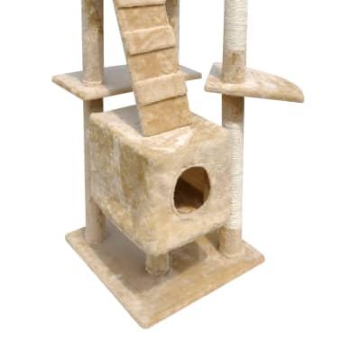 "Cat Tree Scratching Post 87"" - 94"" 3 Condos Beige[4/5]"