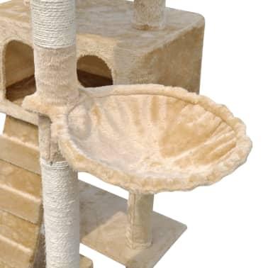 "Cat Tree Scratching Post 87"" - 94"" 3 Condos Beige[5/5]"