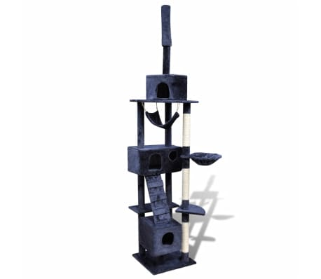 "Cat Tree Scratching Post 87"" - 94"" 3 Condos Dark Blue[1/5]"