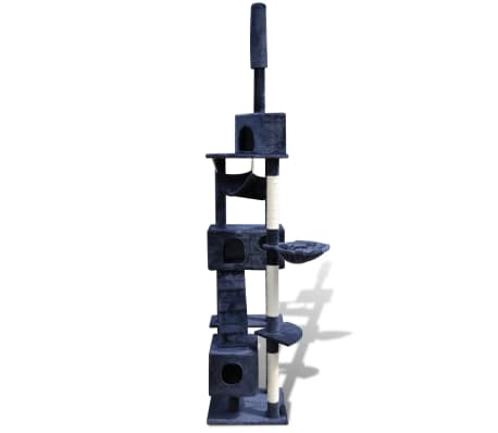 "Cat Tree Scratching Post 87"" - 94"" 3 Condos Dark Blue[2/5]"