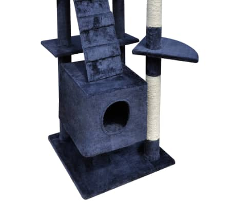 "Cat Tree Scratching Post 87"" - 94"" 3 Condos Dark Blue[4/5]"