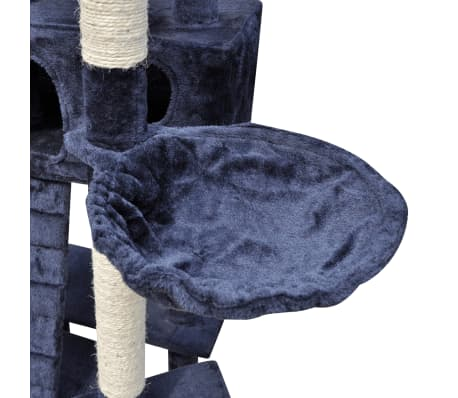 "Cat Tree Scratching Post 87"" - 94"" 3 Condos Dark Blue[5/5]"