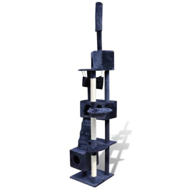"Cat Tree Scratching Post 87"" - 94"" 3 Condos Dark Blue[3/5]"