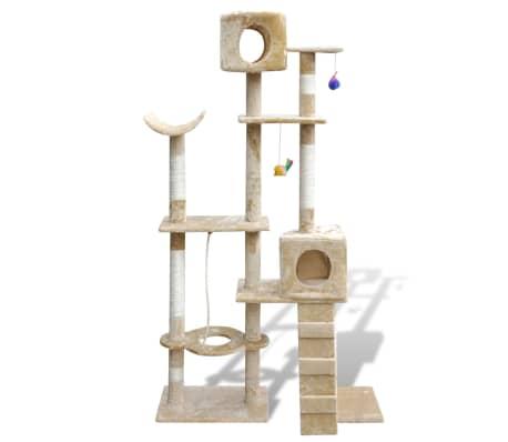 "Cat Tree Scratching Post 69"" 2 Condos Beige[1/3]"