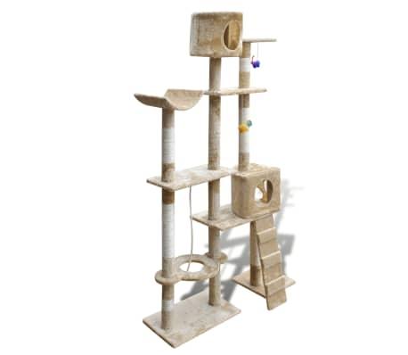 "Cat Tree Scratching Post 69"" 2 Condos Beige[3/3]"