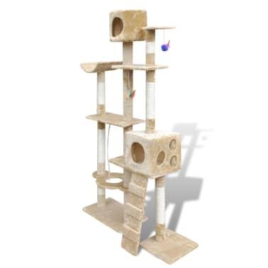 "Cat Tree Scratching Post 69"" 2 Condos Beige[2/3]"