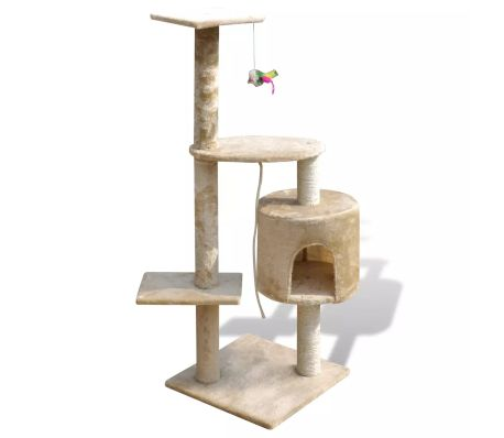 "Cat Tree Scratching Post 45"" 1 Condo Beige[1/3]"