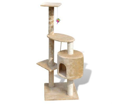 """Cat Tree Scratching Post 45"""" 1 Condo Beige[2/3]"""
