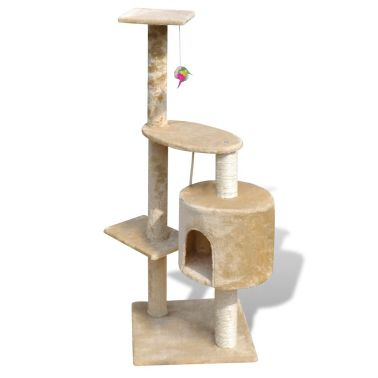 "Cat Tree Scratching Post 45"" 1 Condo Beige[2/3]"