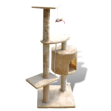 "Cat Tree Scratching Post 45"" 1 Condo Beige[3/3]"