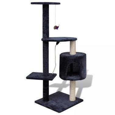 "Cat Tree Scratching Post 45"" 1 Condo Dark Blue[1/3]"