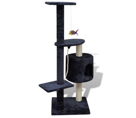 "Cat Tree Scratching Post 45"" 1 Condo Dark Blue[2/3]"