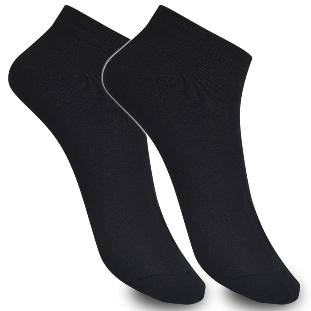 Ponožky do tenisek 43–46 černé 24 párů