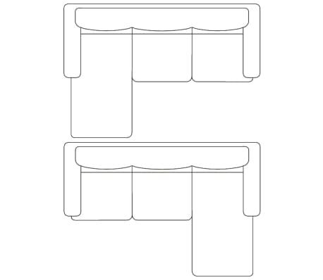 vidaXL Sofá modular de 3 plazas de cuero artificial negro[8/9]