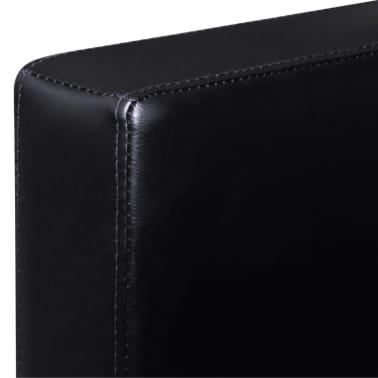 vidaXL Sofá modular de 3 plazas de cuero artificial negro[6/9]