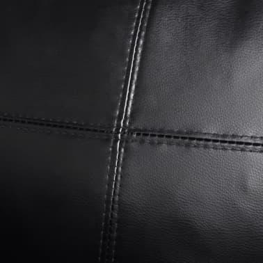 vidaXL Sofá modular de 3 plazas de cuero artificial negro[7/9]