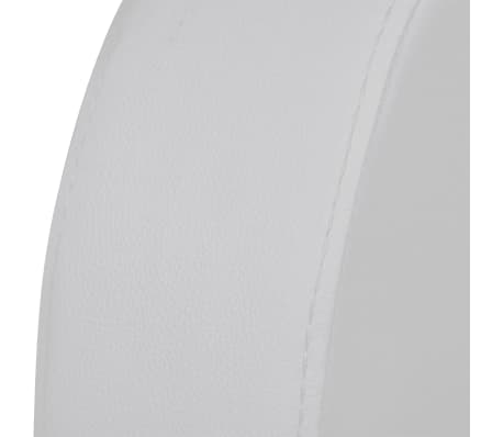 vidaXL Recliner 3-seat Artificial Leather White[4/7]
