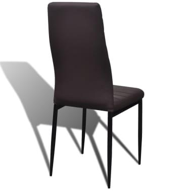 2 Pcs Brown Slim Line Dining Chair Vidaxl Com