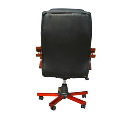 Black Real Leather Office Chair[4/5]