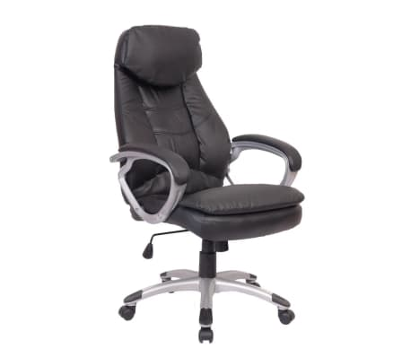 Black Office Chair Real Leather[1/5]