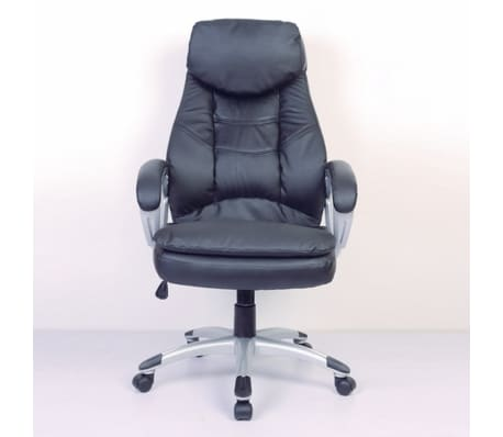 Black Office Chair Real Leather[2/5]
